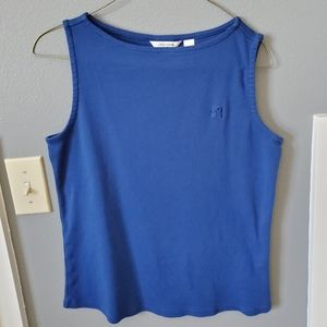 Liz Claiborne Blue Shell Top
